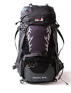 60 L バックパック 登山 レジャースポーツ キャンピング&ハイキング 旅行 防水 速乾性 防雨 防塵 耐久性 防湿 ナイロン BSwolf