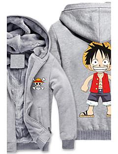 geinspireerd door One Piece Monkey D. Luffy Anime Cosplay Kostuums Cosplay Sweaters Print  Grijs Lange mouw Top