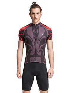 TASDAN® Camisa com Shorts para Ciclismo Homens Manga Curta MotoRespirável / Secagem Rápida / Tapete 3D / Tiras Refletoras / Bolso