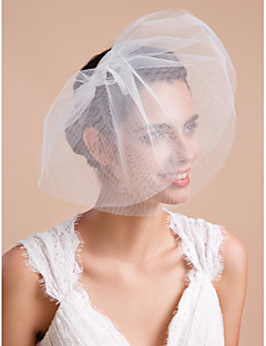Wedding Stripped-down Veil Three-tier Blusher Veils / Veils for Short Hair Cut Edge