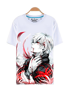 Inspired by Tokyo Ghoul Ken Kaneki Anime Cosplay Costumes Cosplay T-shirt Print White Short Sleeve Top
