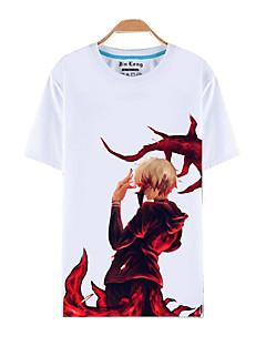 Вдохновлен Токио вурдалак Кен Kaneki Аниме Косплей костюмы Косплей футболка С принтом Белый Короткие Кофты