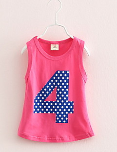 Summer Style Cotton Number Pattern Straight Vest Baby Girl Clothes Kids Dress