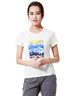 MAKINO® Mulheres Manga Curta Corrida Camiseta Respirável Verão Moda EsportivaAcampar e Caminhar Caça Pesca Alpinismo Exercício e
