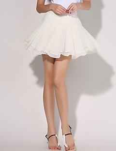 婦人向け キュート / ストリートファッション ミニ スカート,シルク / ポリエステル マイクロエラスティック