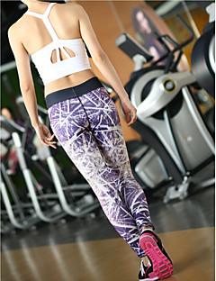 Corrida Meia-calça / Calças / Leggings / Fundos Mulheres Respirável / Secagem Rápida / Compressão / Redutor de Suor TactelIoga / Pilates