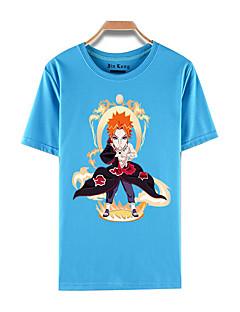 קיבל השראה מ Naruto Akatsuki אנימה תחפושות קוספליי Cosplay חולצת טריקו דפוס כחול קצר עליון