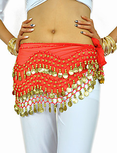 Belly Dance Belt Women's Training Chiffon Beading / Coins 1 Piece Black / Blue / Fuchsia / Orange / Pink / Purple / YellowBelly Dance /
