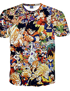 3D T-shirt Dragon  Ball Son Goku Print Cosplay Costumes T-shirt Geeky Clothing Round Neck Short Sleeves For Male/Female