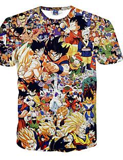 3D-T-Shirt Dragon Ball Goku Druck Cosplay Kostüme T-Shirt geeky Kleidung Rundhals kurzen Ärmeln für Männer / Frauen