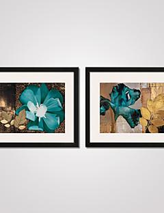 Floral/Botanic Natură moartă Vacanță Abstract Timp Liber Împrimat De Artă Înrămată Pânză Înrămată Set Înrămat Wall Art,PVC Material cu
