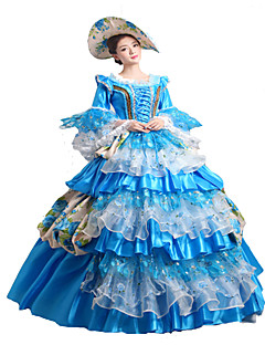 Steampunk®Classic 18th Century Marie Antoinette Inspired Dress Blue Victorian Dress Halloween Party Dress