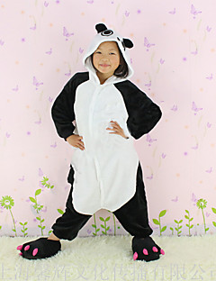 Kigurumi Pajamas New Cosplay® / Panda Leotard/Onesie Halloween Animal Sleepwear White / Black Patchwork Flannel Kigurumi KidHalloween /