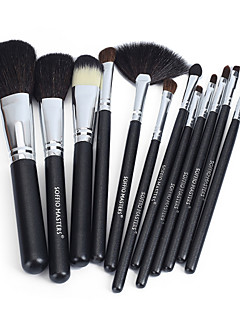 Soffio 12 Makeup Brushes Set Horse / Goat Hair / Synthetic Hair MAC Makeup Style Professional / Travel Wood Face / Eye / Lip