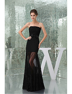 Formal Evening Dress Trumpet/Mermaid Strapless Floor-length Lace / Tulle