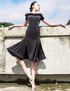 Balet Šaty Dámské Výkon elastan / Polyester Nabíraný / Volánky Jeden díl Krátké rukávy Šaty L:98CM,XL:101CM,XXL:104CM