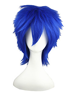 Cosplay Wigs Vocaloid Kaito Blue Short Anime Cosplay Wigs 35 CM Heat Resistant Fiber Male / Female