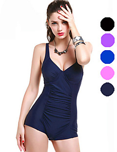 Damen Bikini / Einteiler - Einfarbig / Push-Up Nylon / Elasthan Halfter