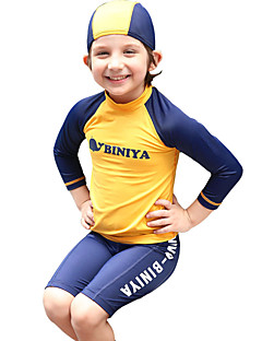 Baby Boy&Girls Summer Yellow Swimming 3pcs/set Swimsuit with Pant & Hat Bathing Suit/ Protective from Sunshine UPF50+