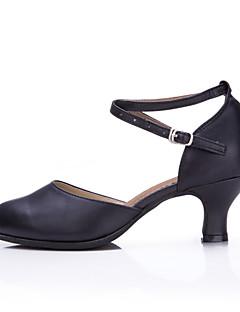 NePersonalizabili Damă Balet Latin Pantofi Dans Modern Salsa Samba Swing Piele Adidași Călcâi ExteriorManșetă Dantelă Ruched Sclipitor Cu