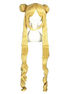 コスプレウィッグ 美少女戦士セーラームーン Sailor Moon ゴールド ロング丈 アニメ系 コスプレウィッグ 100 CM 耐熱繊維 男性用 / 女性用