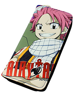 Bag / Wallets Inspired by Fairy Tail Natsu Dragneel Anime Cosplay Accessories Wallet Red PU Leather Male / Female