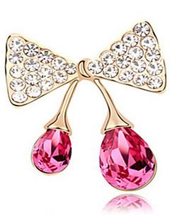 Dame Broșe Cristal Bowknot Shape Bijuterii Pentru Nuntă Petrecere