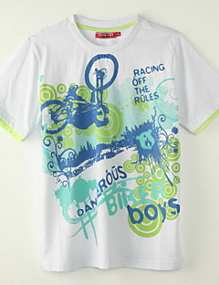 T-shirt-Chłopca-Lato-Nadruk-Poliester