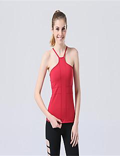 Corrida Blusas / Malha Íntima Mulheres Sem Mangas Respirável / Compressão Elastano / Tactel Ioga Rainha Yoga Wear Sports Elasticidade Alta