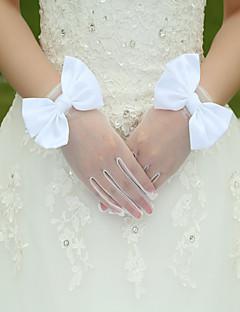 K zápěstí Bez špiček Rukavice Hedvábí Strečový satén Pro nevěstu Jaro Léto Podzim Zima