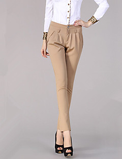 Women's Solid Red / Beige / Black / Brown / Green Business Pants,Work / Casual / Day