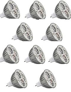 9W GU5.3(MR16) Spot LED MR16 3 LED Haute Puissance 900 lm Blanc Chaud / Blanc Froid / RGB Décorative DC 12 V 10 pièces
