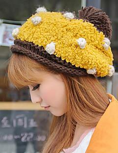 Women Fall And Winter Warm Wool Polka Dot Fashion Cake Shape Knit Hat