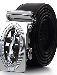 Men Calfskin Waist Belt,Vintage / Cute / Party / Work / Casual Alloy / Leather PZD4025K03