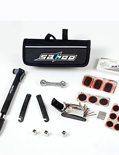 sahoo® ערכות רב תכליתיים תיקון אופניים אופניים אופניים לנקב צמיג צמיג סט כלי& שקית משאבת מיני