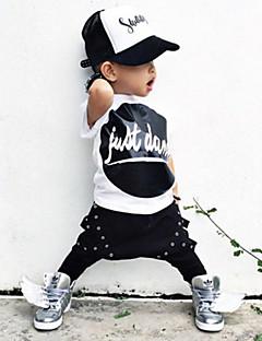 Trykt mønster Drengens Tøjsæt Sommer Bomuld