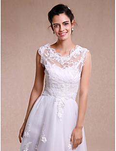 Women's Wrap Shrugs Sleeveless Lace White Wedding / Party/Evening Lace