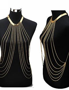Γυναικεία Κοσμήματα Σώματος Αλυσίδα για την Κοιλιά Ιμάντες κολιέ Body Αλυσίδα / κοιλιά Αλυσίδα Sexy Ευρωπαϊκό crossover Μοντέρνα Μπικίνι