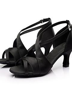 zon lisa latin aanpasbare vrouwen sandalen satijn gesp dans schoenen (meer kleuren)
