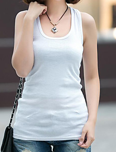 Women's Casual Simple / ActiveTanks,Solid Round Neck SleevelessBlue / Pink / Red / White / Black / Brown / Gray