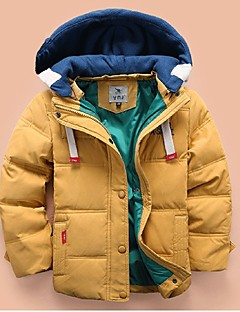 Boy's Casual/Daily Print Down & Cotton Padded,Polyester Winter / Spring / Fall Blue / Green / Red / Yellow