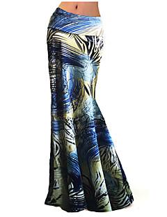Jupes Aux femmes Maxi Grandes Tailles / Bohème Polyester / Spandex Elastique