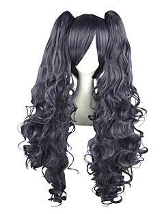 Cosplay Wigs Black Butler Ciel Phantomhive Blue / Gray Long Anime Cosplay Wigs 80 CM Heat Resistant Fiber Male / Female