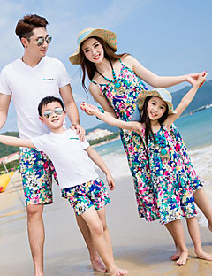 Short Sleeve Cotton Family Clothing Sets,All Seasons Dress / Clothing Set