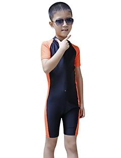 SBART 子供用 ウェットスーツ ノースリーブウェットスーツ 抗紫外線 ビデオ圧縮 フルボディー タクテル 潜水服 半袖 ダイビングスーツ スイムウェア-潜水 サーフィン シュノーケリング