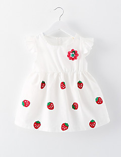 Baby Casual/Daily Floral Dress,Cotton / Polyester Summer / Spring / Fall White