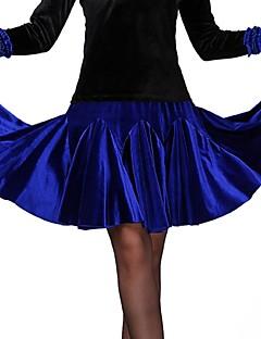 Ballroom Dance Bottoms Women's Performance Polyester Draped Black / Royal Blue / Burgundy Sleeveless Natural Skirt