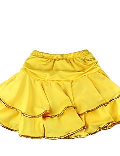 Latin Dance Tutus & Skirts Children's Training Milk Fiber Ruffles 1 Piece Children's LatinDance Dress