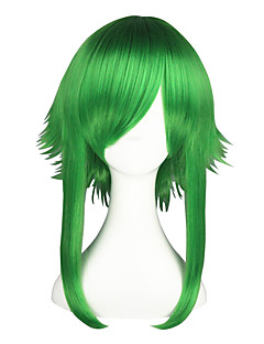 Cosplay Wigs Vocaloid Gumi Green Medium Anime Cosplay Wigs 55 CM Heat Resistant Fiber Male / Female