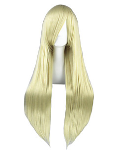Cosplay Wigs Chobits Chiaki Nanami Golden Long Anime Cosplay Wigs 80 CM Heat Resistant Fiber Male / Female